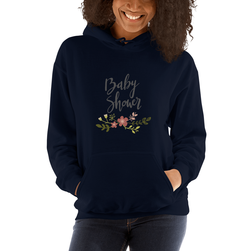 baby shower Women Hooded Sweatshirt Marks'Marketplace Navy S
