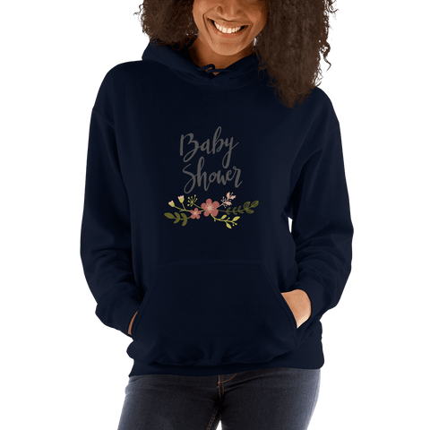 Image of baby shower Women Hooded Sweatshirt Marks'Marketplace Navy S