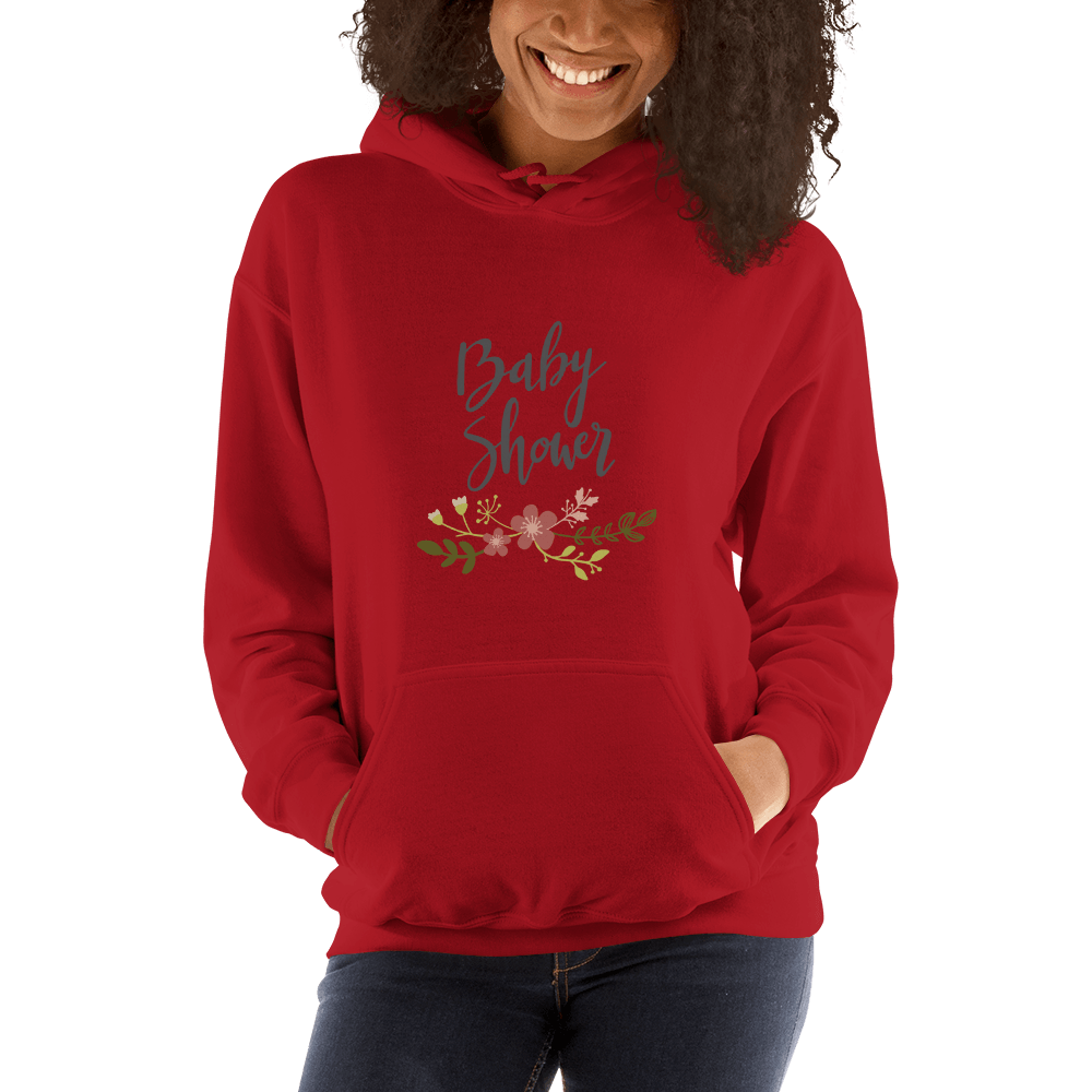baby shower Women Hooded Sweatshirt Marks'Marketplace Red S