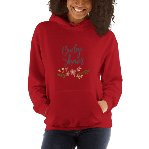 Image of baby shower Women Hooded Sweatshirt Marks'Marketplace Red S