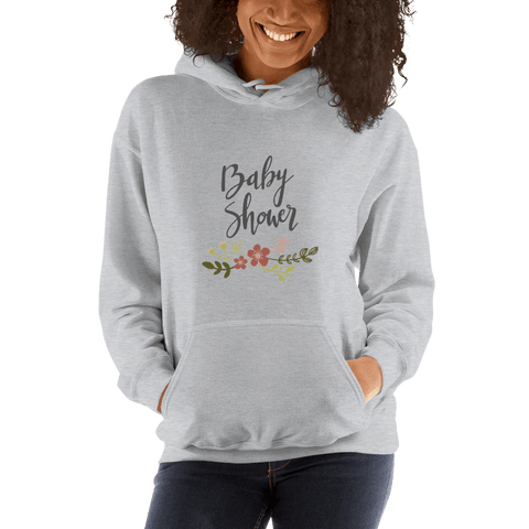 Image of baby shower Women Hooded Sweatshirt Marks'Marketplace Sport Grey S