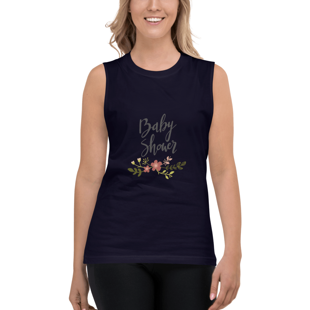 baby shower Women Muscle Shirt Marks'Marketplace Navy S