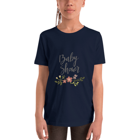 Image of baby shower Youth Short Sleeve T-Shirt Marks'Marketplace Navy S