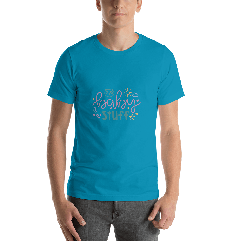 baby stuff Men Short-Sleeve T-Shirt Marks'Marketplace Aqua S