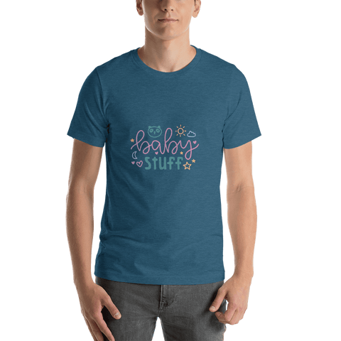 Image of baby stuff Men Short-Sleeve T-Shirt Marks'Marketplace Heather Deep Teal S