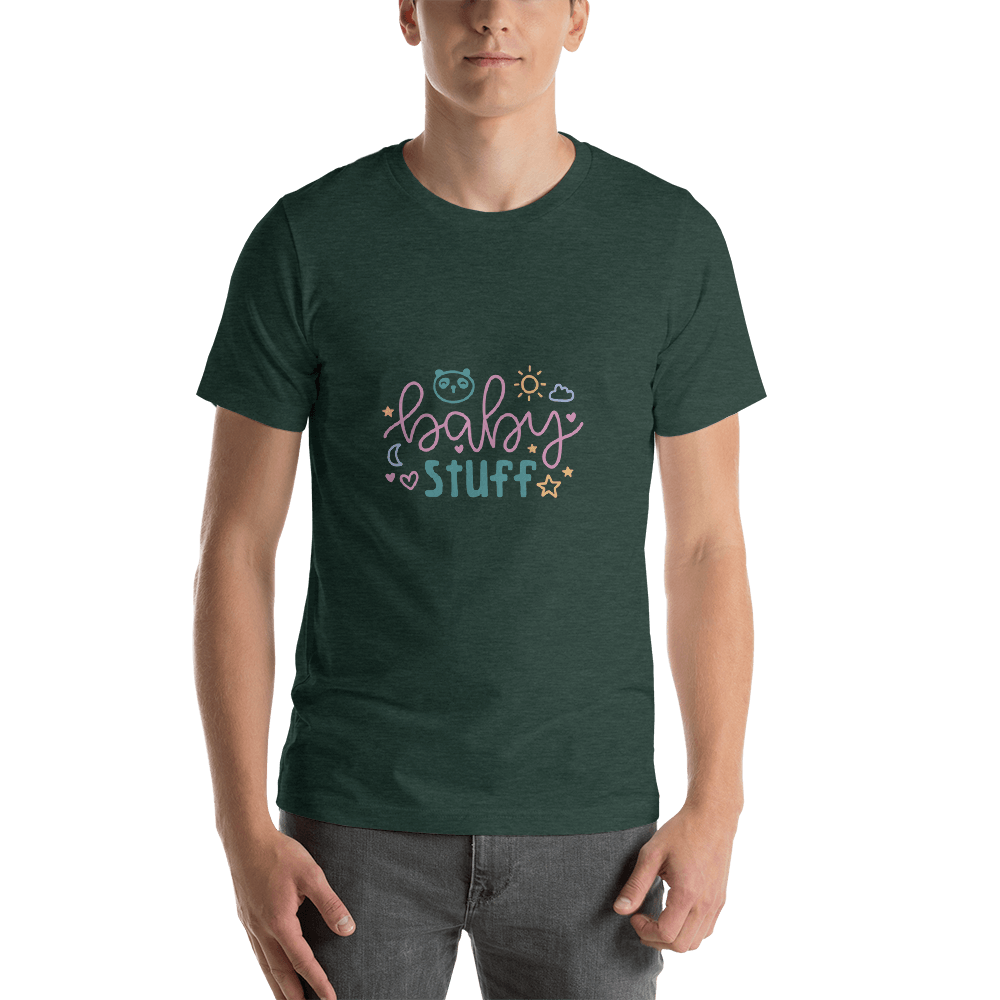 baby stuff Men Short-Sleeve T-Shirt Marks'Marketplace Heather Forest S
