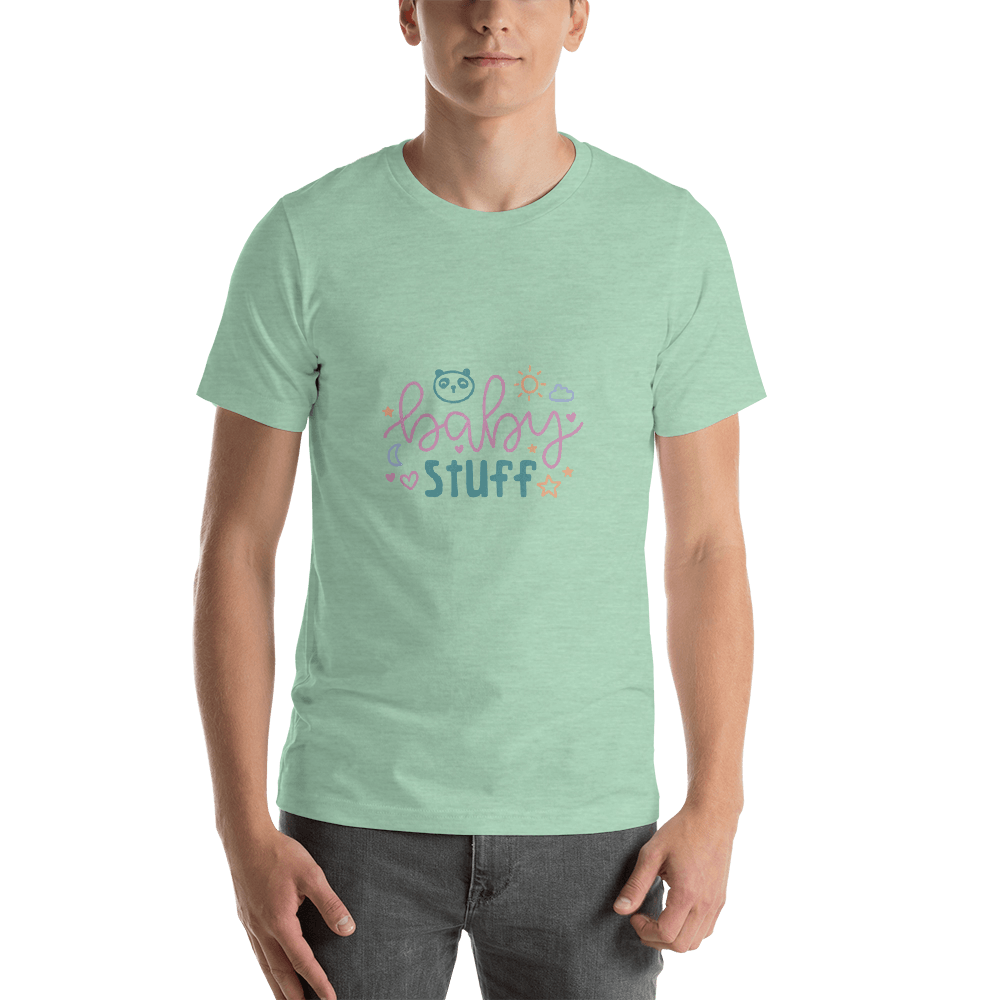 baby stuff Men Short-Sleeve T-Shirt Marks'Marketplace Heather Prism Mint XS
