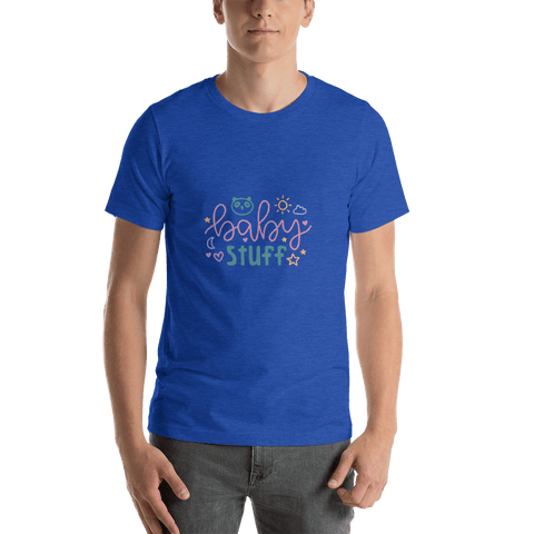 Image of baby stuff Men Short-Sleeve T-Shirt Marks'Marketplace Heather True Royal S