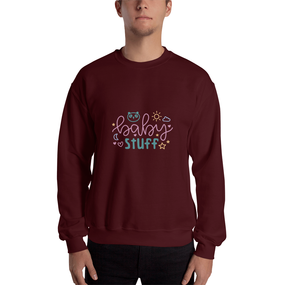 baby stuff Men Sweatshirt Marks'Marketplace Maroon S