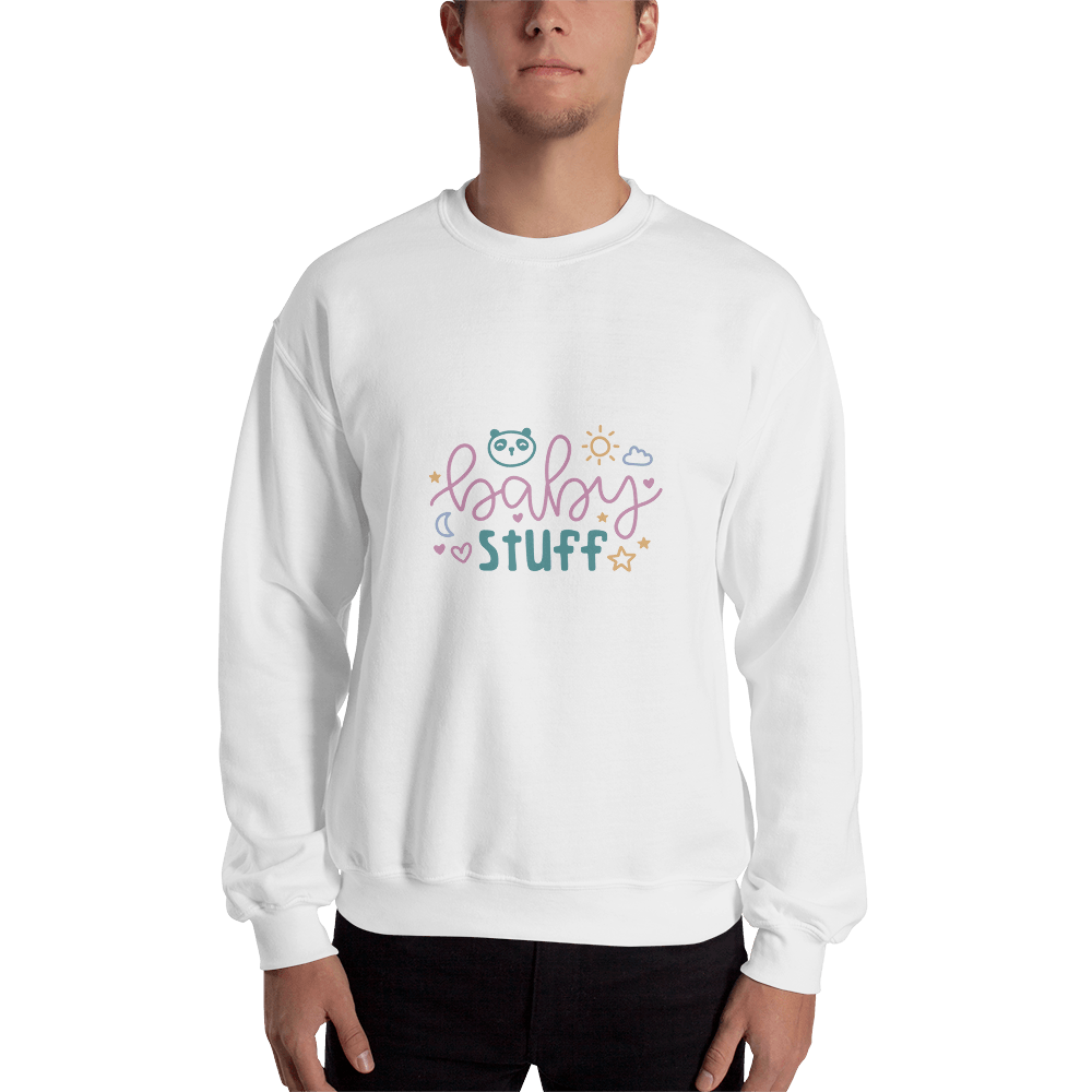baby stuff Men Sweatshirt Marks'Marketplace White S