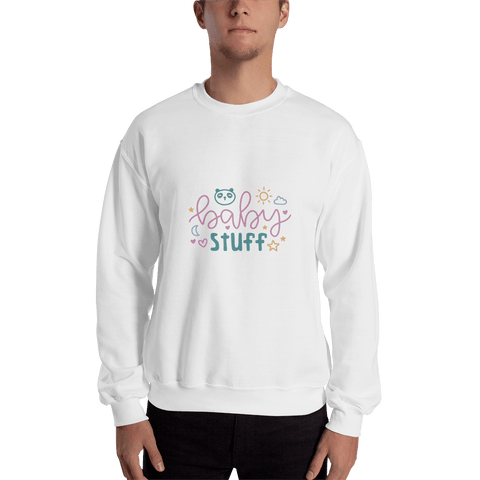 Image of baby stuff Men Sweatshirt Marks'Marketplace White S