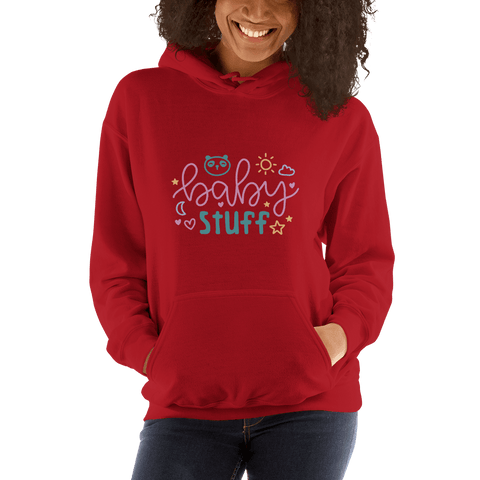 Image of baby stuff Women Hooded Sweatshirt Marks'Marketplace Red S