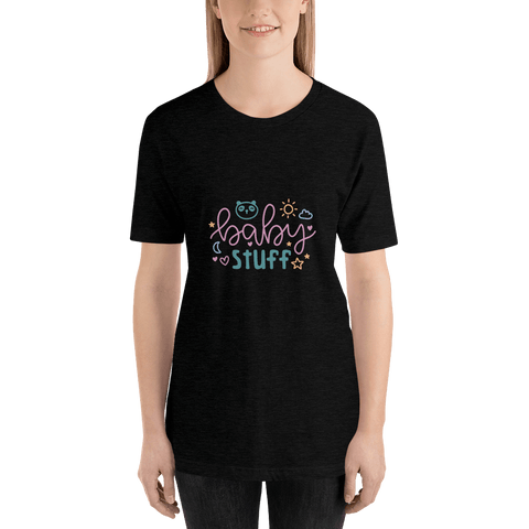 Image of baby stuff Women Short-Sleeve T-Shirt Marks'Marketplace Black Heather XS