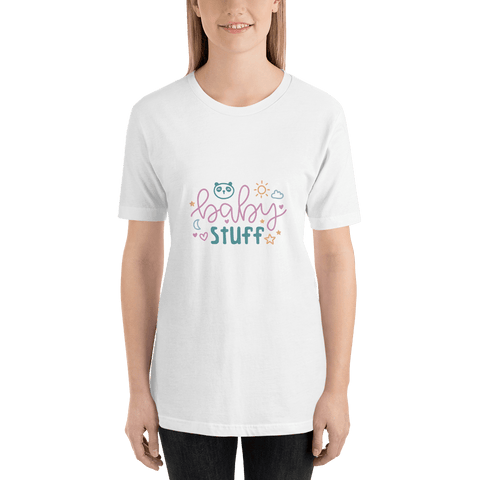 Image of baby stuff Women Short-Sleeve T-Shirt Marks'Marketplace White XS