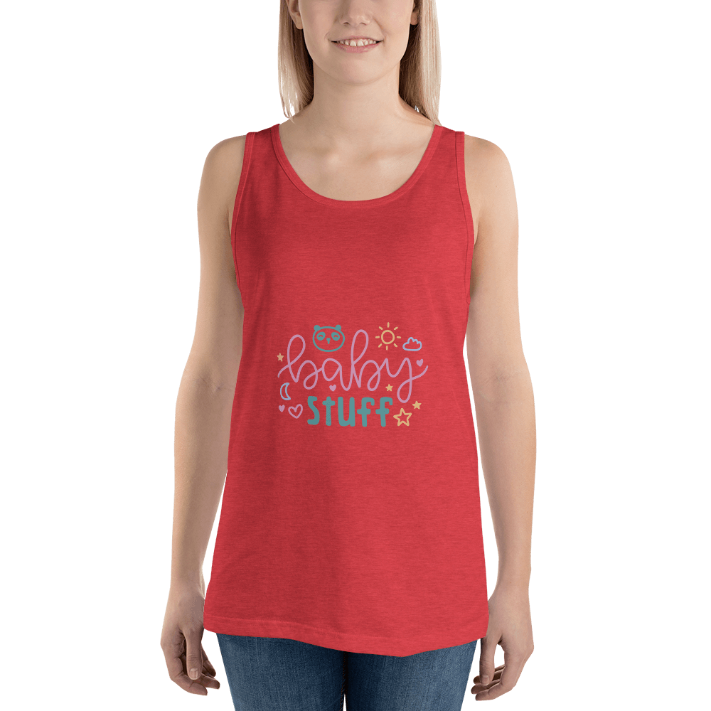 baby stuff Women Tank Top Marks'Marketplace Red Triblend XS