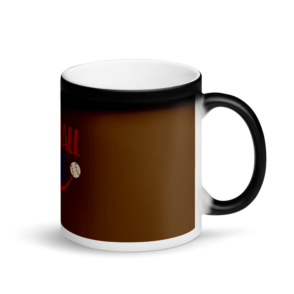 BASEBALL DAD Matte Black Magic Mug Marks'Marketplace