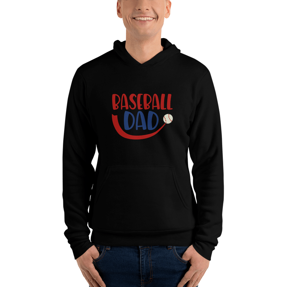 BASEBALL DAD Men hoodie Marks'Marketplace Black S