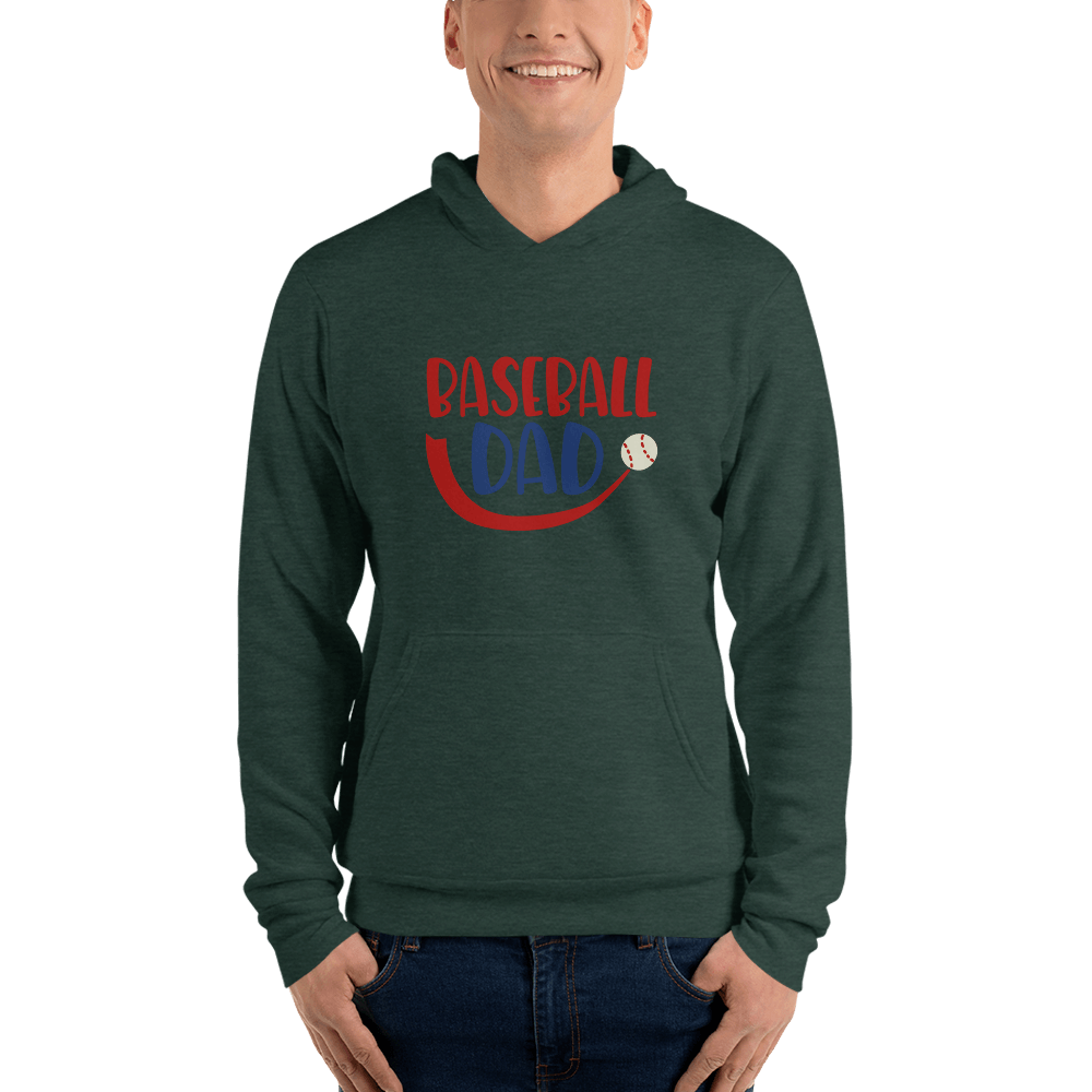 BASEBALL DAD Men hoodie Marks'Marketplace Heather Forest S