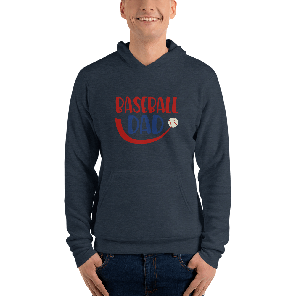 BASEBALL DAD Men hoodie Marks'Marketplace Heather Navy S