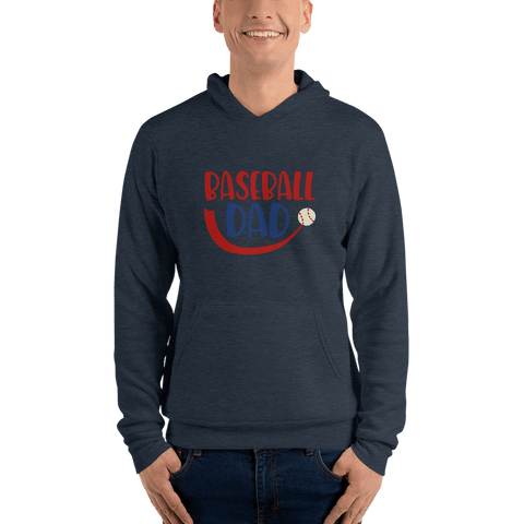 Image of BASEBALL DAD Men hoodie Marks'Marketplace Heather Navy S