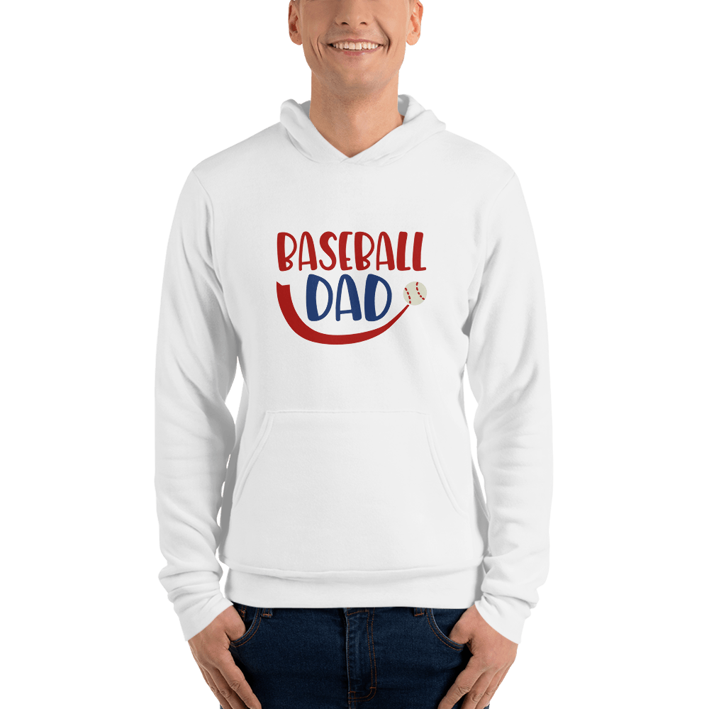 BASEBALL DAD Men hoodie Marks'Marketplace White S