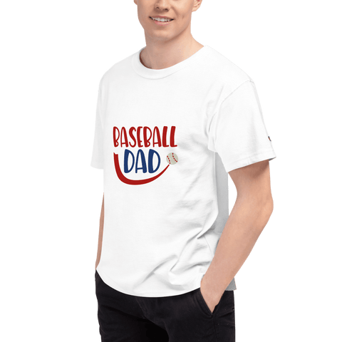 Image of BASEBALL DAD Men's Champion T-Shirt Marks'Marketplace