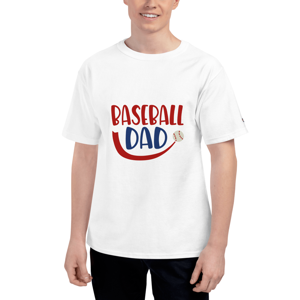 BASEBALL DAD Men's Champion T-Shirt Marks'Marketplace White S