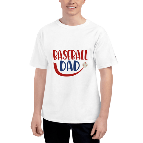 Image of BASEBALL DAD Men's Champion T-Shirt Marks'Marketplace White S