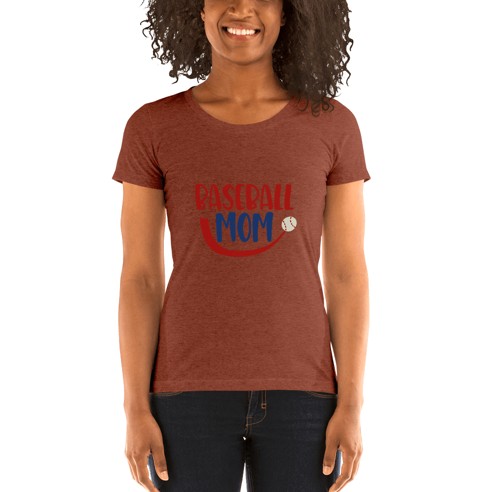 BASEBALL MOM Ladies' short sleeve t-shirt Marks'Marketplace Clay Triblend S