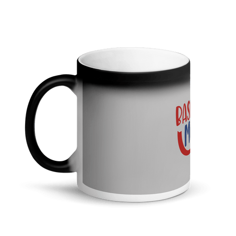 Image of BASEBALL MOM Matte Black Magic Mug Marks'Marketplace