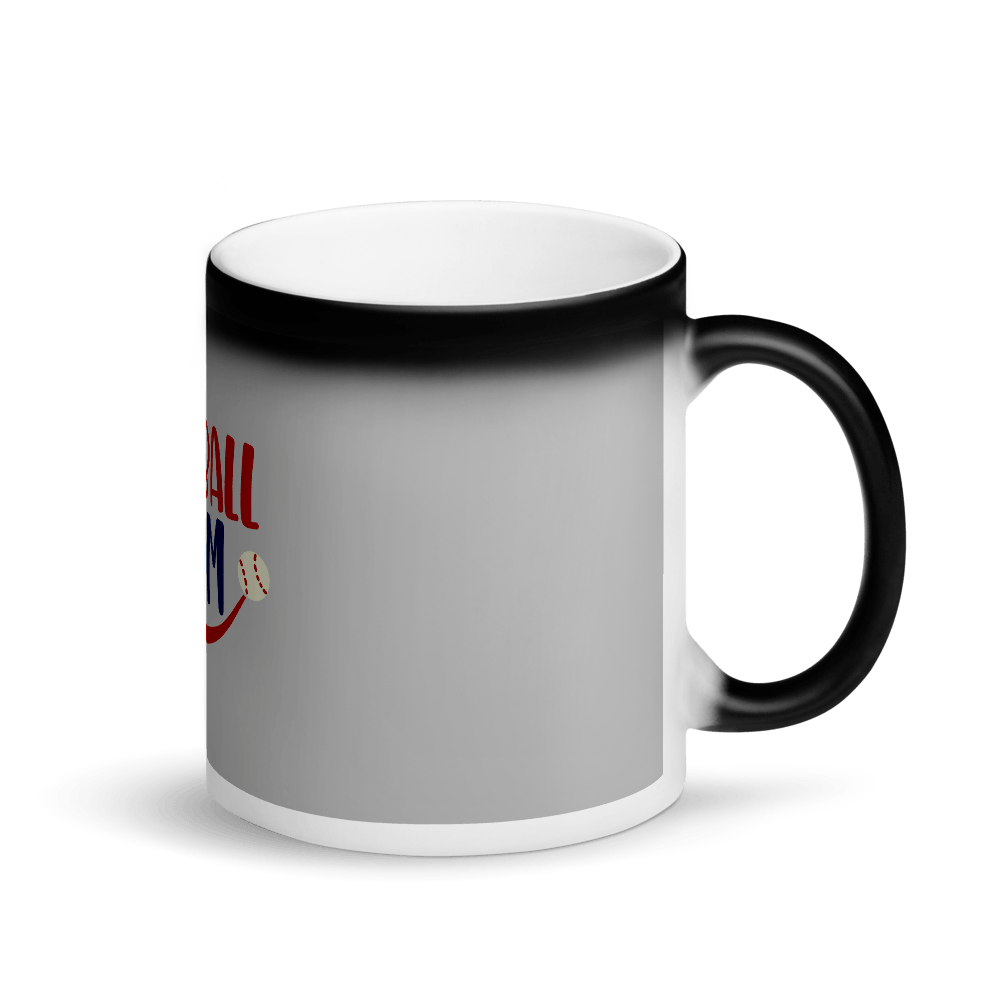 BASEBALL MOM Matte Black Magic Mug Marks'Marketplace