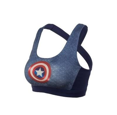 Image of Captain America Superhero Crop Top Tank Top Women Marks'Marketplace Blue S