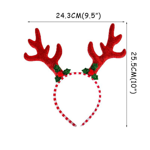 Christmas Glasses & Headband & Photo Frame Props Decoration Marks'Marketplace Army Green