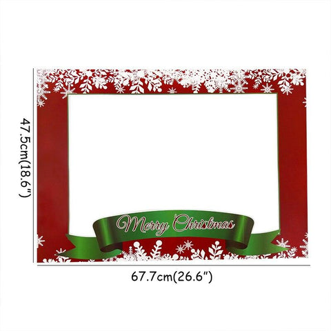 Christmas Glasses & Headband & Photo Frame Props Decoration Marks'Marketplace Brown
