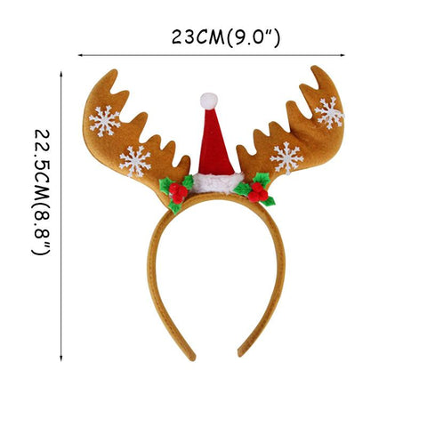 Christmas Glasses & Headband & Photo Frame Props Decoration Marks'Marketplace Clear