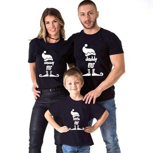 Christmas Little Elf Family Matching T-Shirts