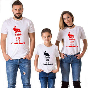 Christmas Little Elf Family Matching T-Shirts shirt Marks'Marketplace