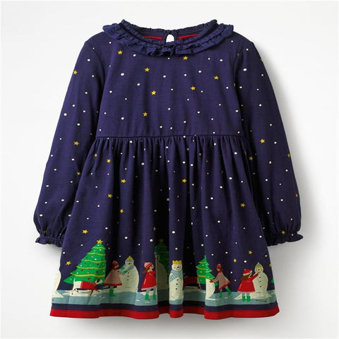 Christmas Party Dress Children Clothing Gifts Marks'Marketplace Dark Grey 4T