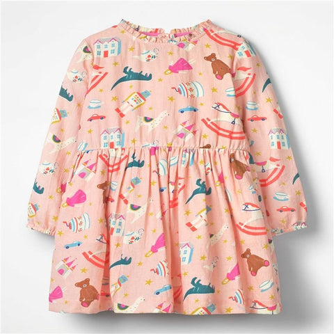 Christmas Party Dress Children Clothing Gifts Marks'Marketplace Pink 4T