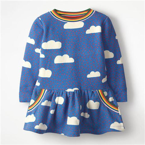 Christmas Party Dress Children Clothing Gifts Marks'Marketplace Sky Blue 4T