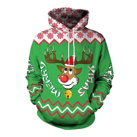 Christmas Reindeer Ugly Pullover Sweater Marks'Marketplace 09 XL