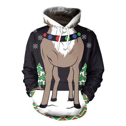 Christmas Reindeer Ugly Pullover Sweater Marks'Marketplace