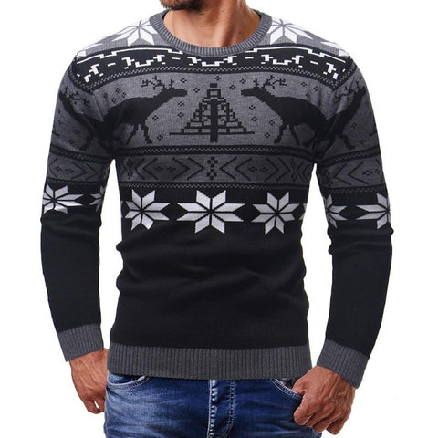 Christmas sweater for men Marks'Marketplace Black M