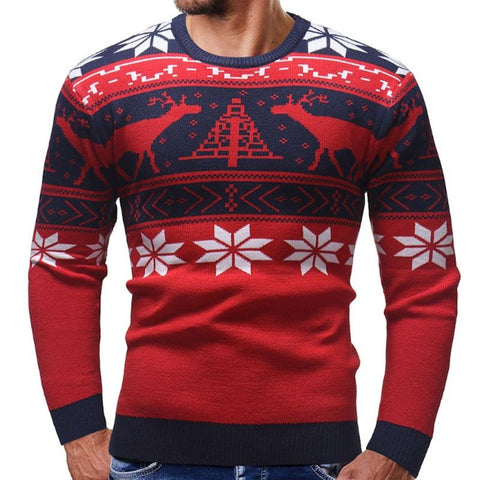 Christmas sweater for men Marks'Marketplace Red M