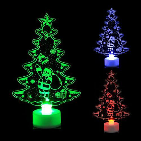Image of Christmas Tree Decorations Colorful Led Lights Lights Marks'Marketplace Deep Sapphire