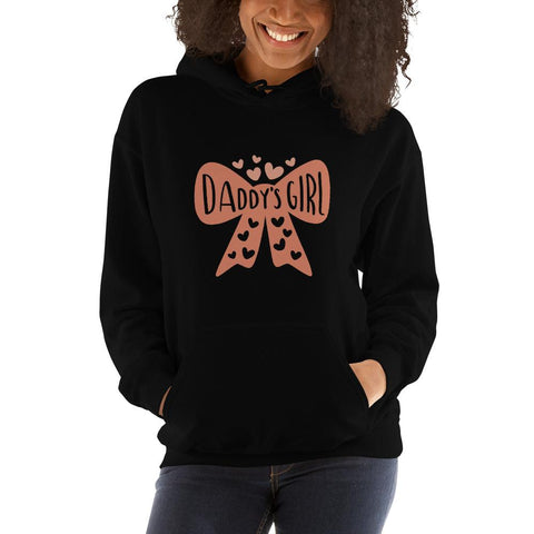 Image of Daddy's girl Women Hooded Sweatshirt Marks'Marketplace Black S