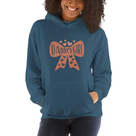 Image of Daddy's girl Women Hooded Sweatshirt Marks'Marketplace Indigo Blue S