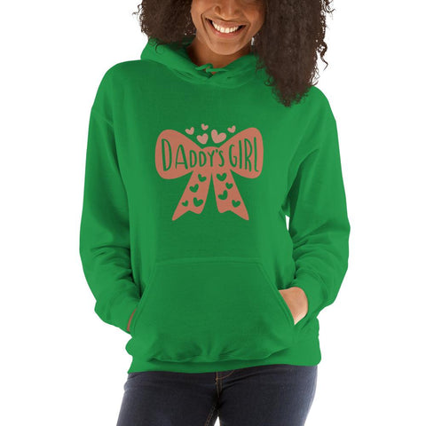 Image of Daddy's girl Women Hooded Sweatshirt Marks'Marketplace Irish Green S