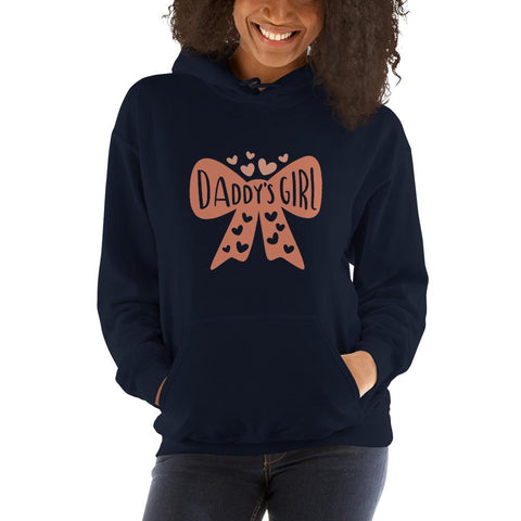 Image of Daddy's girl Women Hooded Sweatshirt Marks'Marketplace Navy S