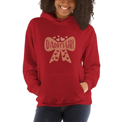 Image of Daddy's girl Women Hooded Sweatshirt Marks'Marketplace Red S